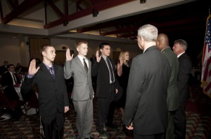 Armed Forces Dinner 2012 - Enlistment Ceremony